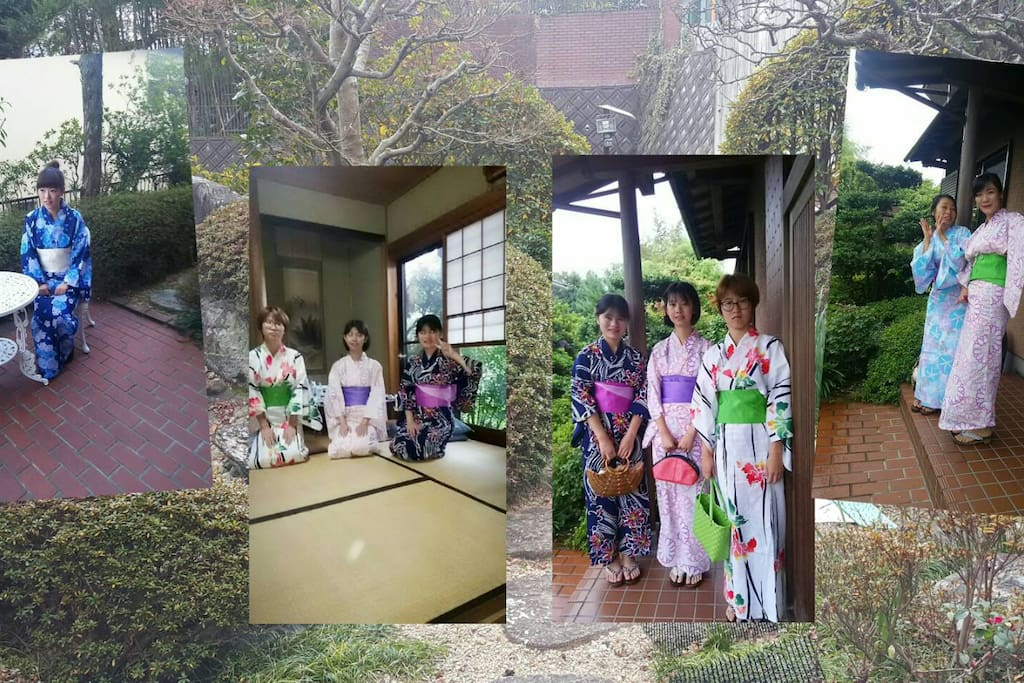 I provide Japanese traditional KIMONO for female guests is 1000yen
