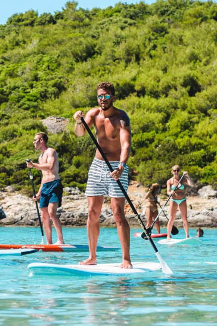 Practicing paddling