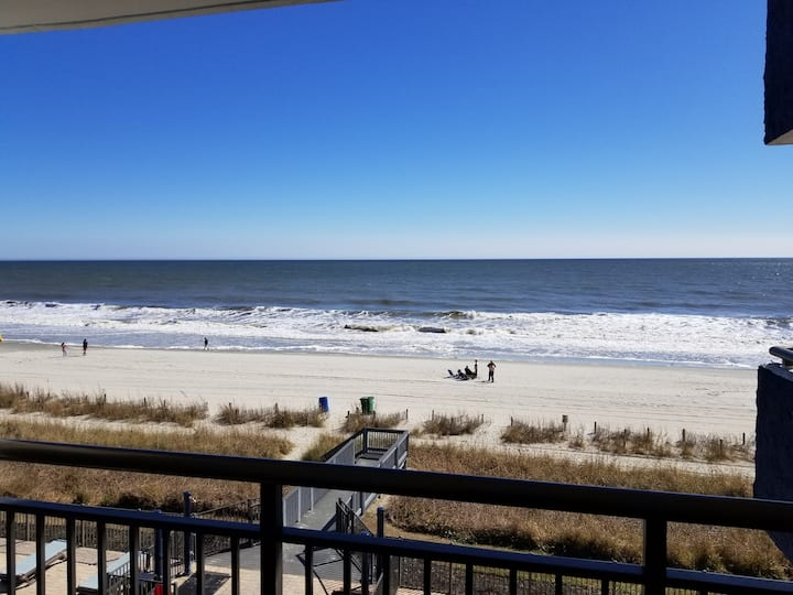 ⛱OCEANFRONT RETREAT⛱1 Bdrm. ALL NEW +HEATED POOL!