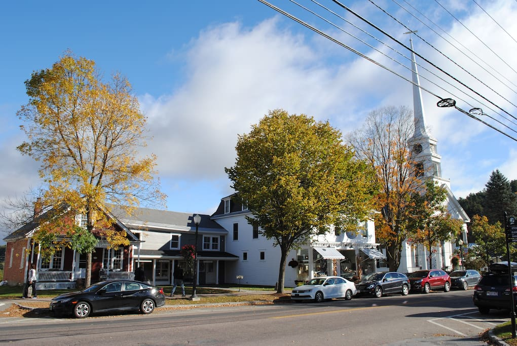 109 Main Street is located next to Stowe's historic (and most photographed in New England!) Church.