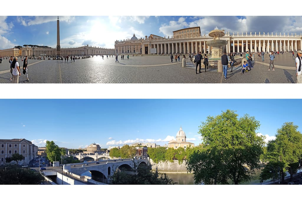 The view and the neighbourhood - Saint Peter square and the riverside