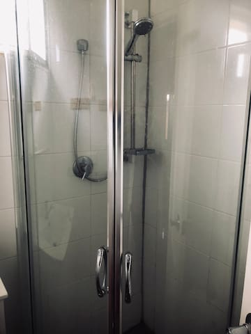 Slide glass cover shower corner