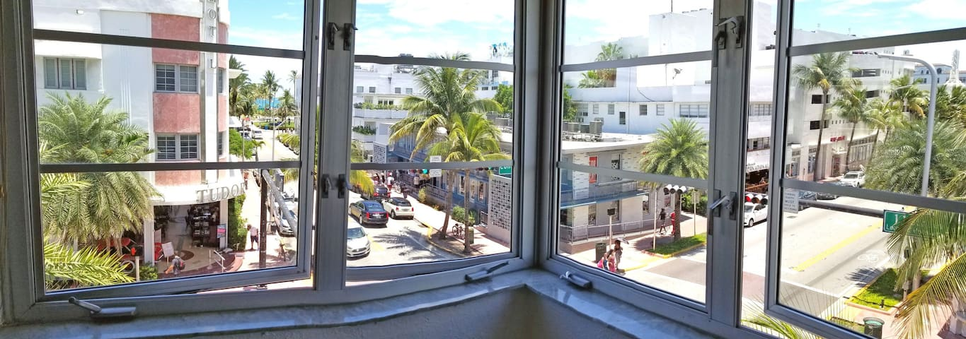 Great views and just one block from the beach