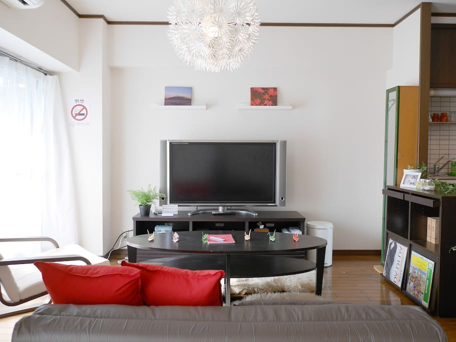 Max 8 people/Pocket wifi/Near Canal city/New Open/Cozy room