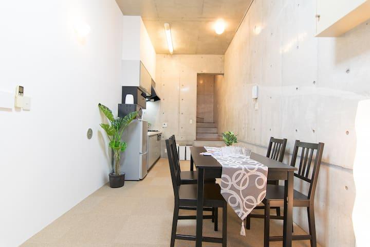 하라주쿠 · 오모테산도역 까지 도보 8분 2룸 최대6명 숙박가능 무료 WIFI #E6