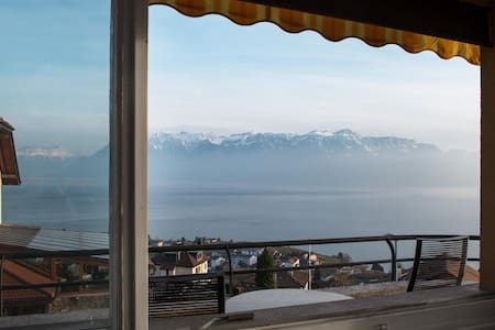 Peaceful location, Alps & Lake view - Bourg-en-Lavaux - Apartment