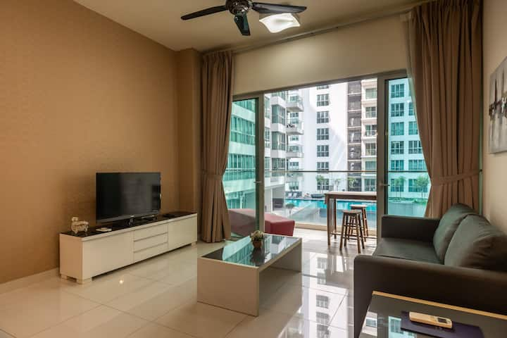 Puteri 2 Bedroom Balcony @MyRehat with Netflix