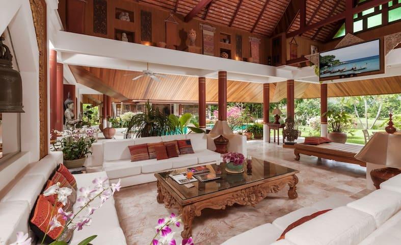 Villa Semaya, Exceptional 8BR Thai Style w/ Pond - Villas for Rent ...