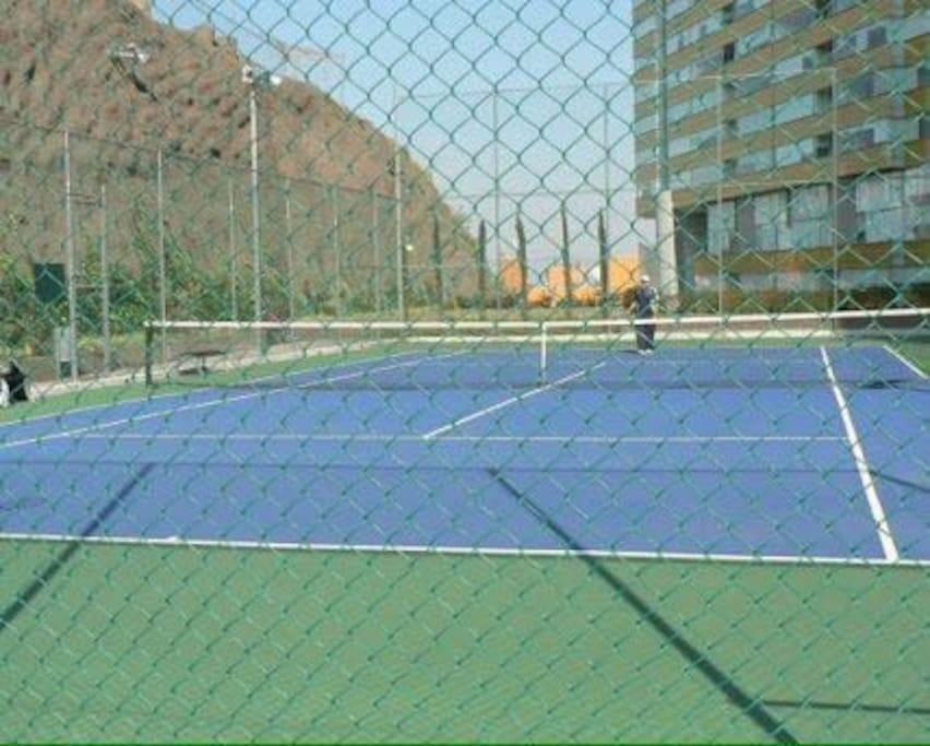 Canchas de tenis y jardin