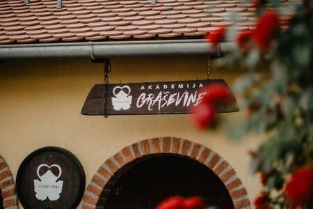 Akademija Graševine-vinska kuća usred vinograda
