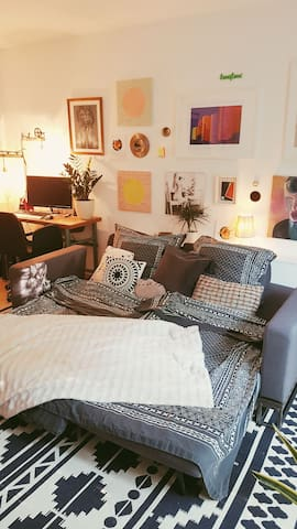 Our cozy and arty apartment