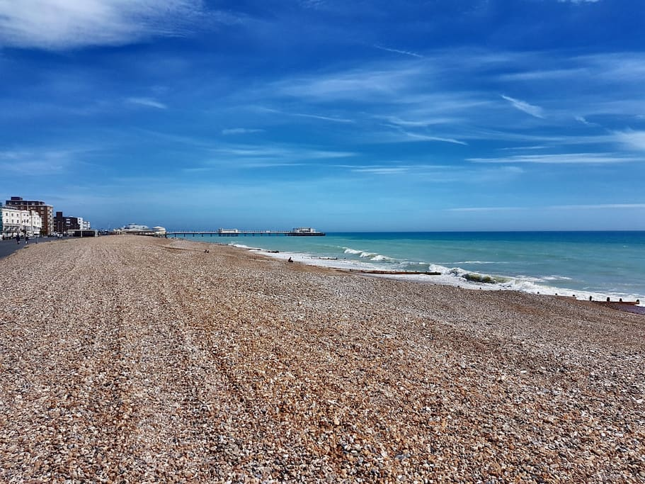 Escape the crowds of Brighton! This is the beach across the road.