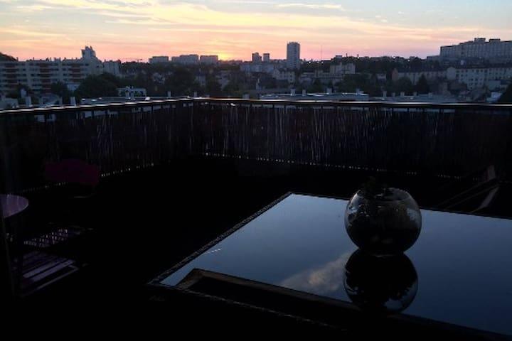 Chambre ds très bel appartement lumineux terrasse - Rennes - Apartamento