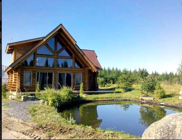 Magnifique résidence en bois ronds