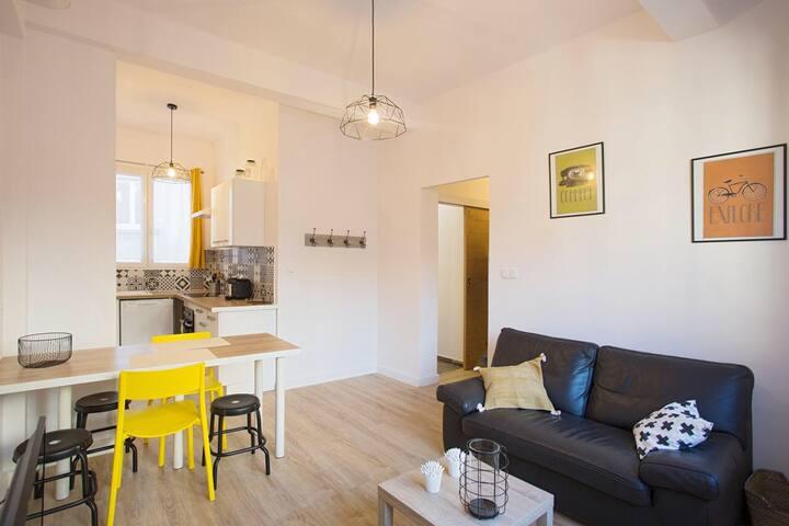 Appt climatisé moderne et vintage Toulon centre