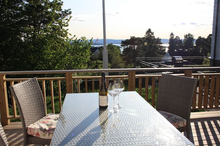 Sunny apartment with own terrace facing Oslofjord