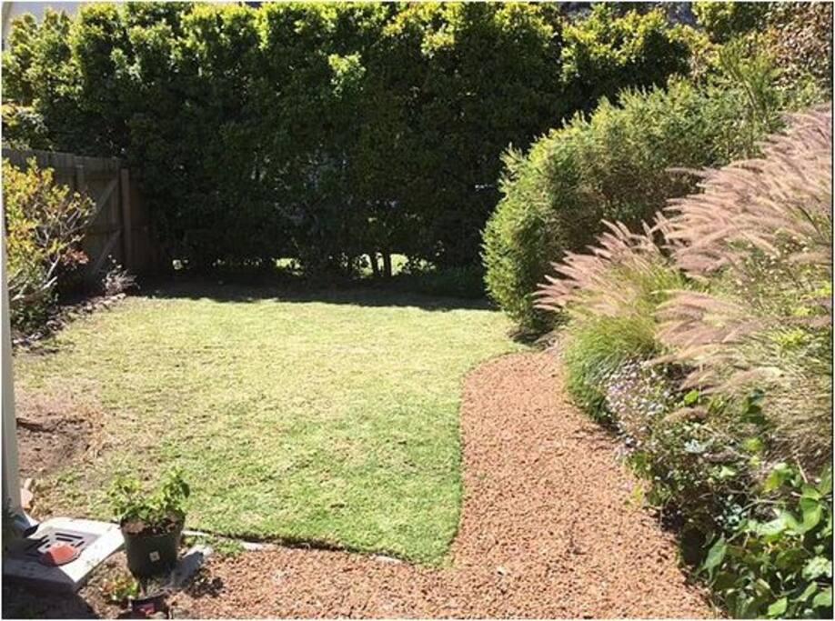 private back garden