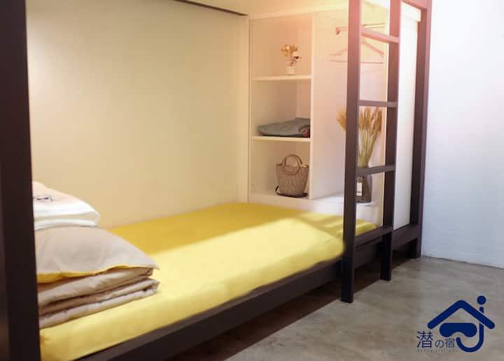 潜の宿-盒子房(男女共住)-单独床位 AUG MIX DORM SINGLE BED