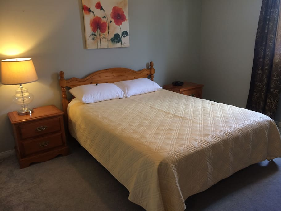 Comfortable Double bed for one or two.