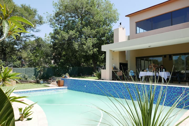 Large swimming pool available along side the braai facilities