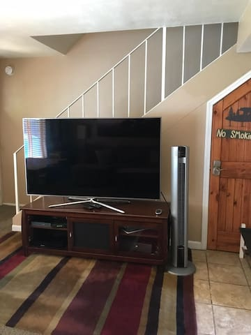 "65"" TV in living room"