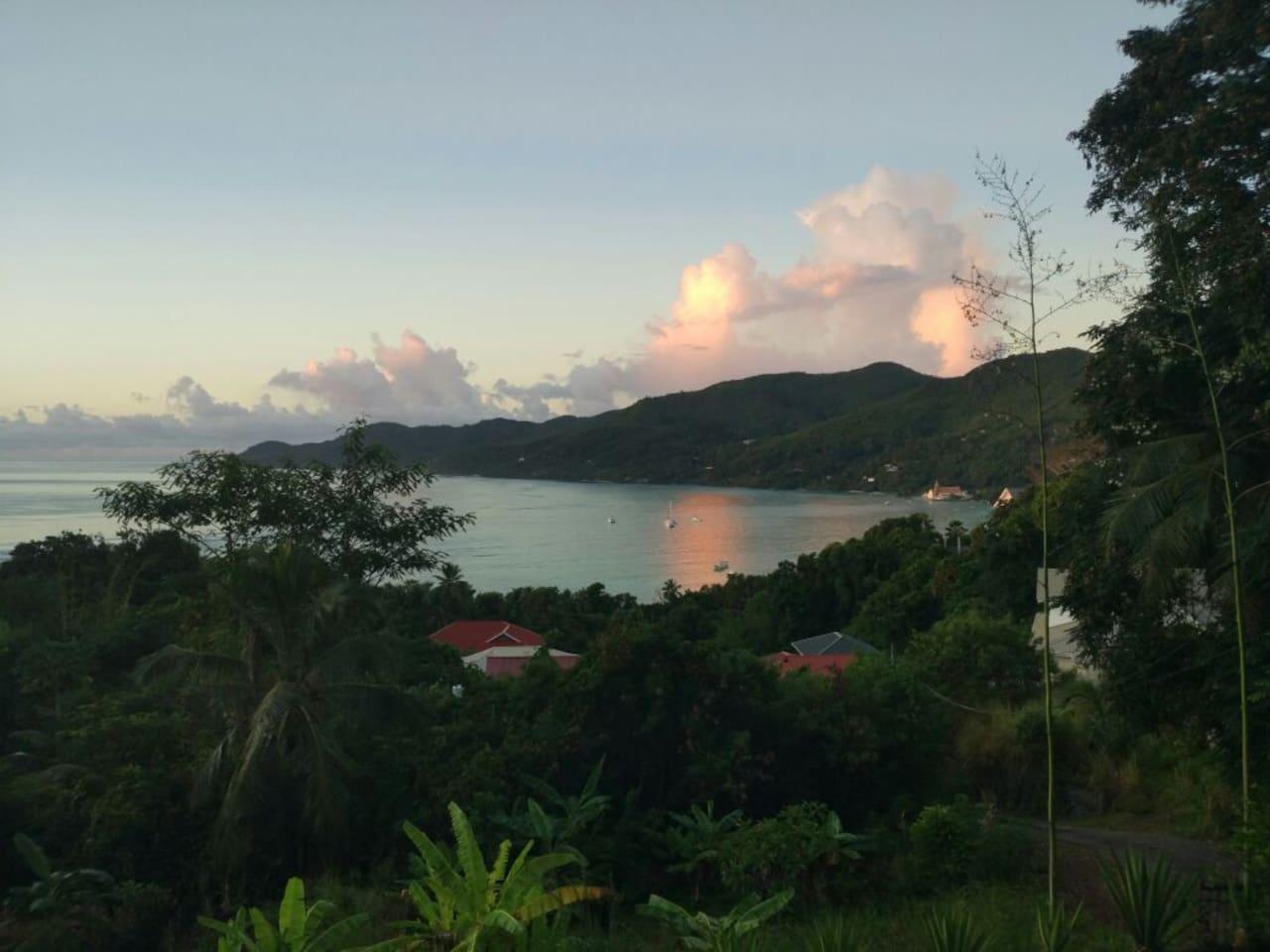 Evening view from verandah