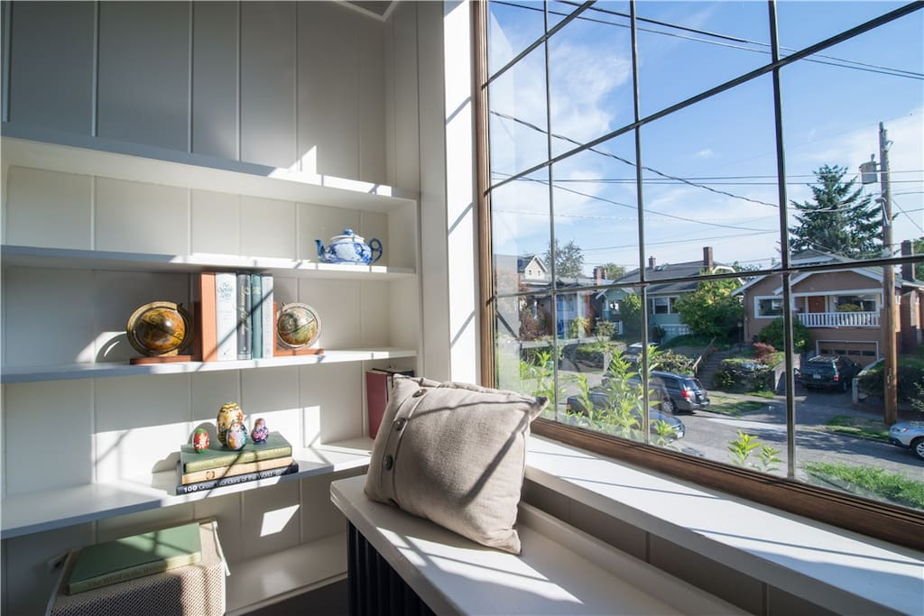 Nice sunny reading spot in the living room.