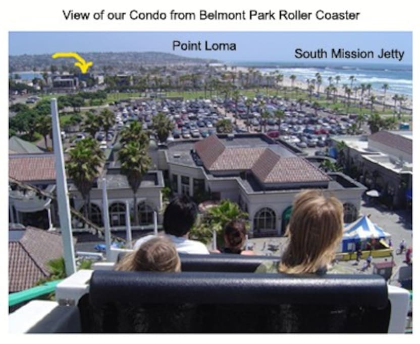 See our place from the famed Belmont Park roller coaster!