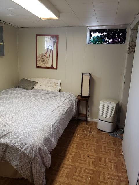 Cozy cabin basement