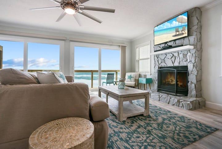 Spectacular Oceanfront 🌊Blissful Balconies + BBQ