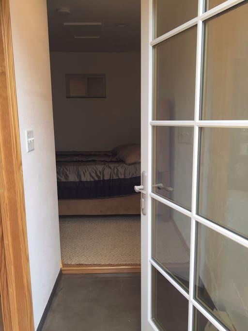Separate keyed entryway