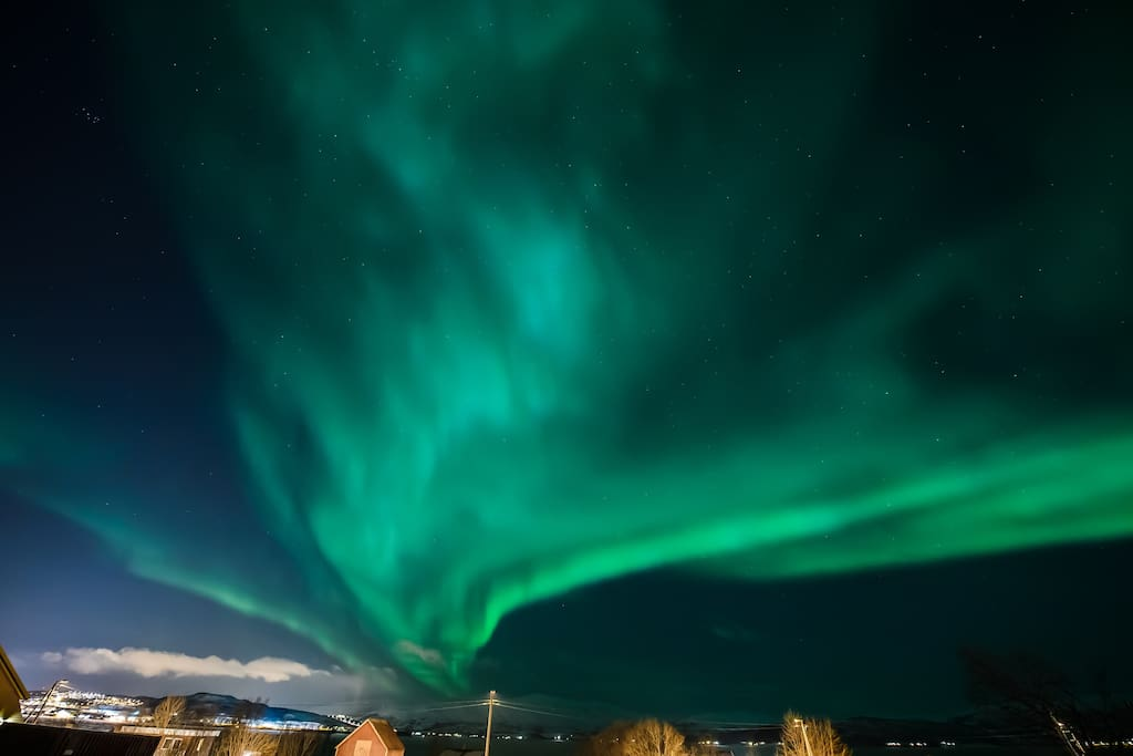 Aurora from my diveway.  Photo by: thememoryoflove.com