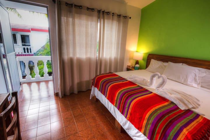 Main Bedroom  with Balcony @VillasColibriCozumel