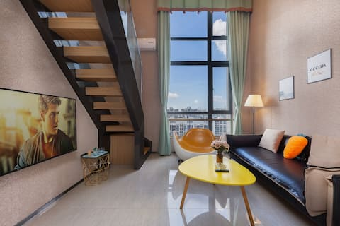 皮质沙发~可做饭~复式loft一房套房