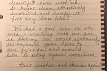 We love hearing how much our guests enjoy their time here!