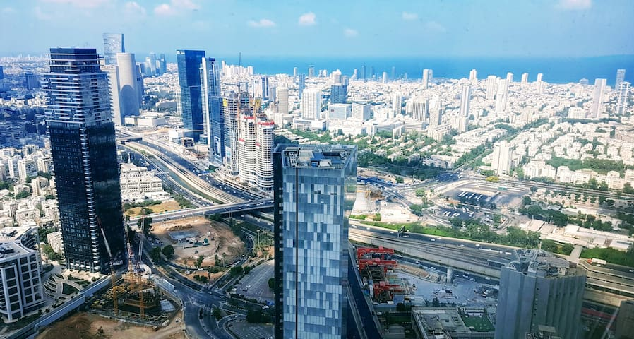South view from 59th floor. Tel-Aviv is beautiful from above.