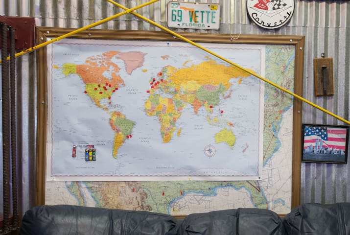 We ask our guests to mark where there from.