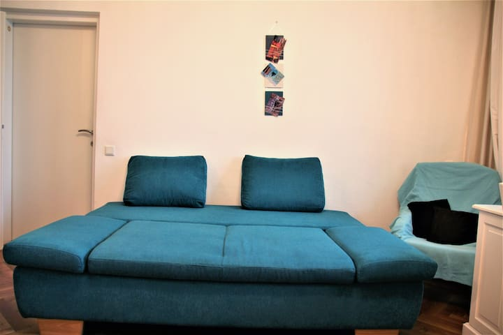 Extendable Coach in living room