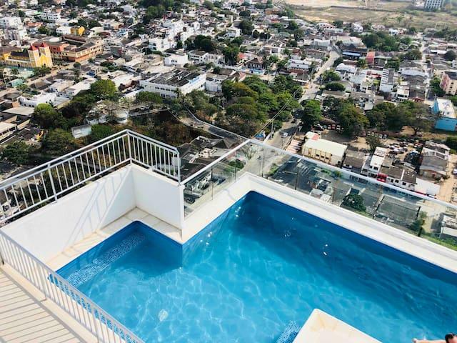 Apartamento Completo  2 habitaciones  y piscina