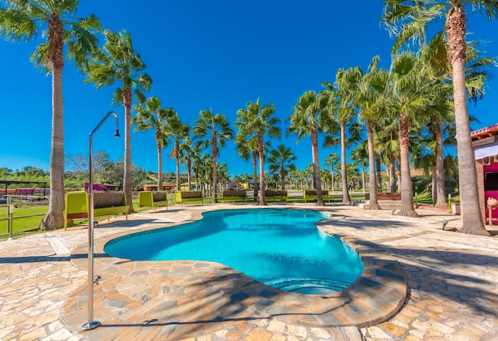 From the pool our guests can see a fantastic panorama