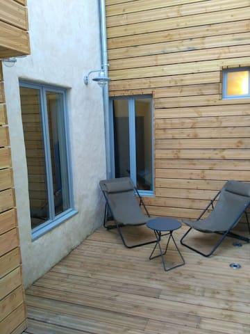 Charmant studio avec terrasse à 100m plage Fécamp - Fécamp - Appartement