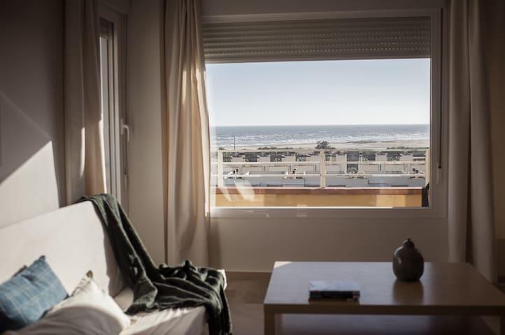 Piso en la playa con estupendas vistas al mar - Isla Cristina - Departamento