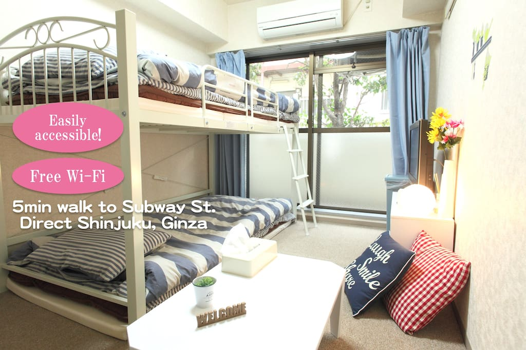 cozy room!Direct Shinjuku & Ginza - Apartments for Rent in