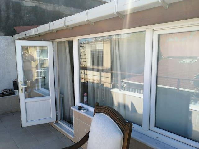 On the street 5 mınutes taksim 2 room 2 terrace