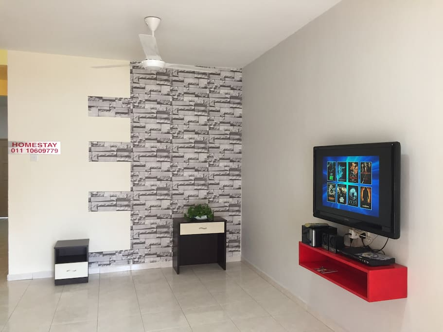 Living Hall with LED TV & DVD Player