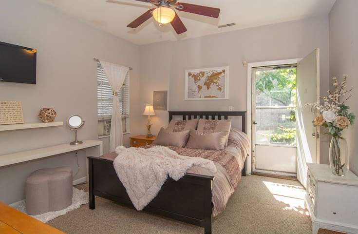 Charming, warm, and centrally located - master bed