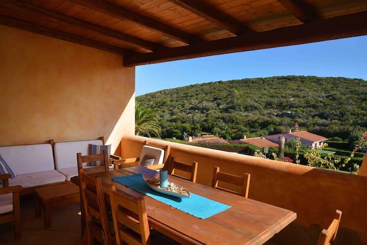Sardegna,Palau,casetta Melissa,panoramico,piscina