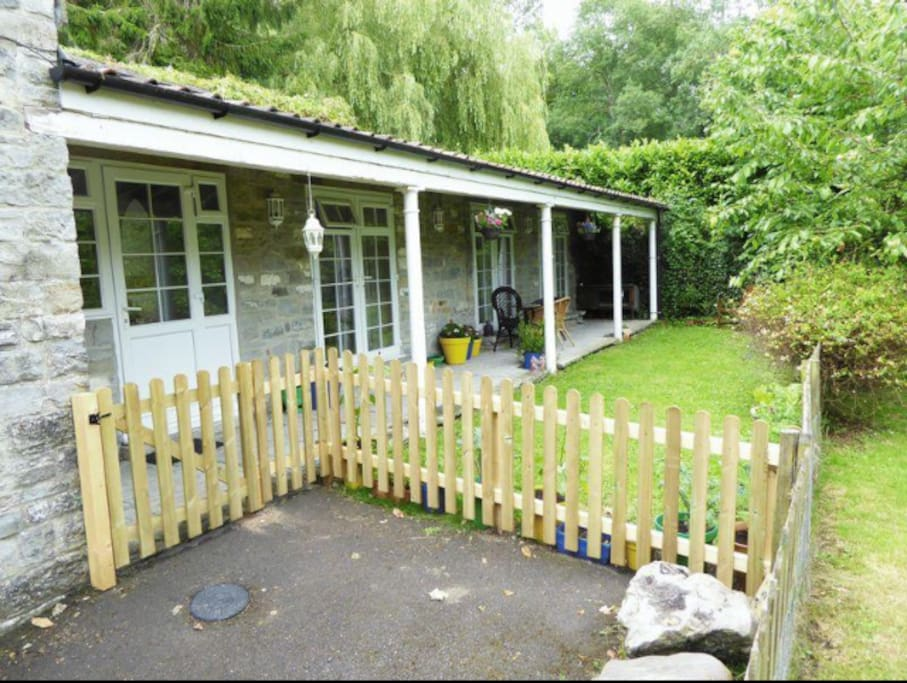 View of cottage and private garden for your personal use