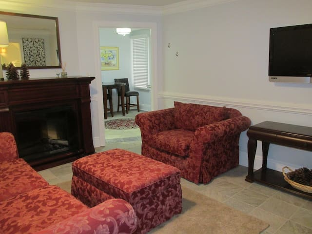 Relaxing Living Room / Wall mount TV & Cable