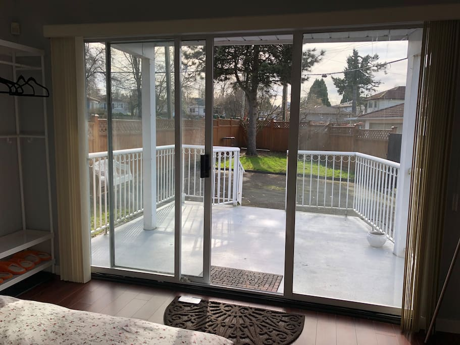 Private deck and fully fenced yard